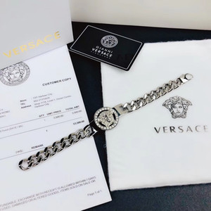 2018 NUEVA joyería de acero inoxidable pulseras de los brazaletes Pulseiras pulseras de cuero para hombre regalo de las mujeres sin caja Hsu4a