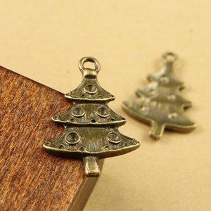 50pcs / lot 26 * 17MM mini adornos para árboles de Navidad DIY accesorios para teléfonos móviles decoraciones navideñas pequeño colgante