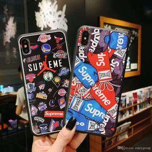 Street Sports Soft Case für Iphone 11 Pro X Xs Max Xr 10 8 7 6 6s Plus-Telefon-Abdeckung Matte Silikon-Paar Coque Capa