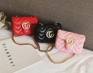 3-renk 2020 yeni moda nakış küçük tütsü rüzgar zincir çocuk kız çocuk tek omuz haberci küçük torbalar kadın çantaları