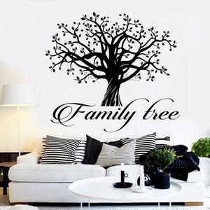Family Tree Logo Vinil Duvar Çıkartmaları Ev Kelime Alıntı Ağacı Of Life Çıkartma Ev Duvar Dekor Huge Ağaçlar Koltuk arka plan