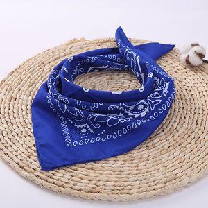 Paisley Bandana Polyester Cotton Headband Multifuncional Headscarf Single Sided Printed Cowboy Bandanas Party Favor CCA12033