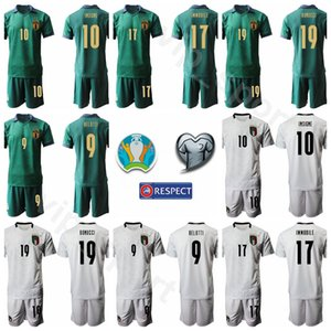 Италия Футбол 10 Инсинье Kits рубашка Джерси Набор 2020 Eurocopa 17 Иммобиль 9 Андреа Белотти 19 Бонуччи Italia Футбола