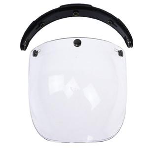 3-Snap Shield botón de la burbuja visera Orientación vertical de viento cara de la lente para la motocicleta casco de la motocicleta del viento Escudo Bonanza