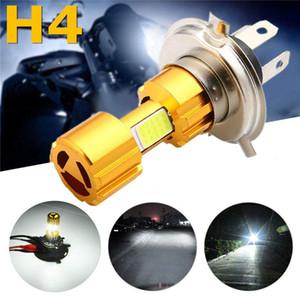 2X COB 18W H4 Connect ampoule LED moto lumière blanche phare 2000lm 6000K haute / basse lumière faisceau récent ampoule de phare