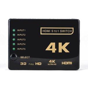 5-Liman Hdmi Splitter Kablo Çokluanahtarı HDMI 4K Switcher Splitter Hub Kutusu ile Pigtail İçin HDTV 3840P