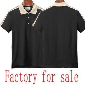 2020SS Top Qualité Polo de luxe de luxe Summer Cotton Coloration solide Nouvelle marque Marque Men's Polo usine à vendre