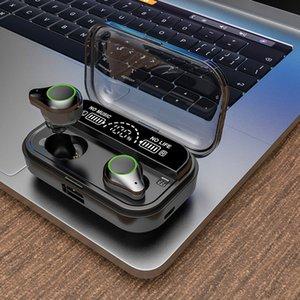 T10 TWS Правда Беспроводные наушники-вкладыши для наушников 5,0 Bluetooth гарнитура IPX7 Водонепроницаемые наушники 6D Surround Stereo Sound наушники 4000mah