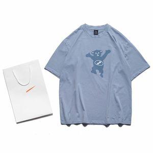 Mens Womens T Shirt 2020 New Fashion Casual High Quality Summer Short Sleeves Blue Clothing SL200601
