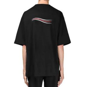 20SS Männer Frauen Solid Color T Classic Wave Logo Letter Print Breath kurzen Ärmeln High Street Skateboard T-Shirt Sommer-T HFYMTX820