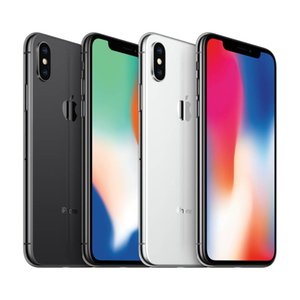 Entriegelte Hexa CoreApple iPhone X Without Face ID 4G LTE 64GB / 256GB ROM 3 GB RAM 5,8 Zoll iOS A11 Dual-Rückseiten-Kamera Handy Reformiert
