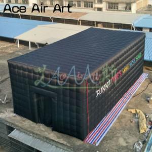تخصيص 210D أكسفورد القماش نفخ السينما السوداء نموذج خيمة الفيلم نفق قابل للنفخ سرادق مع شاشة للأحداث في الهواء الطلق أو حزب
