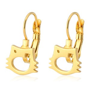 2020 Fashion Brand Lady Stainless Steel Fashion titanium steel gold jewelry V-shaped smooth titanium steel earrings earrings