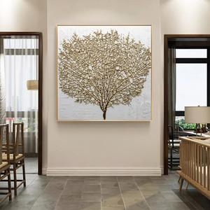 가정 거실을 위해 현대 장식적인 북유럽 작풍 포스터 인쇄 벽 예술 화포 회화 추상적인 황금 나무 모듈 그림