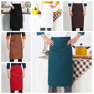 Chef Apron Unisex Waist Short Apron Waiter Overalls Bib Aprons Waterproof Durable Apron Hotels Working Aprons Kitchen Home Furnishing ZYQ510