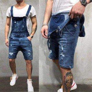 Designer Short Mens Jean Overalls dünne Summer Fashion Holes Jean Arbeit Hosen-Mann-Kleid