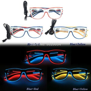 New Fashion Neon LED Glasses Wedding Light Festival Party Glowing Sunglasses EL Wire Night Vision Glasses