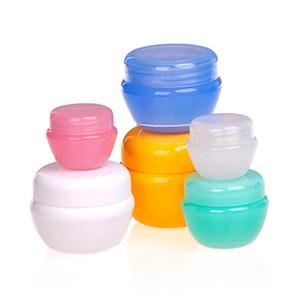 50pcs / lot 5g 10g 20g 30g Plastikglas-Pilz-Formkasten kosmetischer Plastikcremetiegel, kosmetischer Beispielkasten