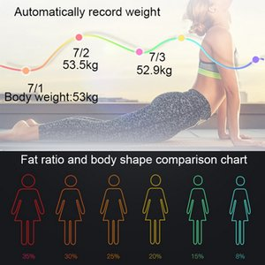 New Body Fat Scale Floor Scientific Smart Electronic LED Digital Weight Bathroom Balance Bluetooth APP Android or IOS Bluetooth