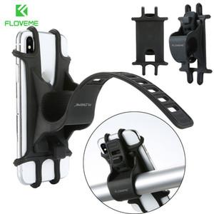 Floveme Silicone Bike Motorcycle Handlebar Mobile Phone Mount Holder Bicycle Phone GPS Stand Bracket Cradle Universal Adjustable