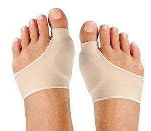 Joanete Pads Spandex Gel Almofadas estiramento de hálux valgo protector Toe Small / tamanho grande cores Nude