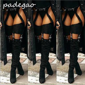 2019 explosão modelos hot nova moda feminina botas de comércio exterior tamanho grande moda feminina sapatos pointedA211