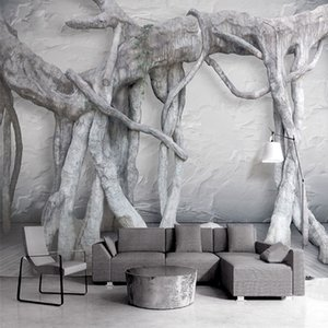 3D Stereoscopic Tree Roots Mural Art Wallpaper Living Room Restaurant Creative Background Wall Covering Frescoes Papel De Parede