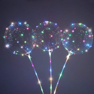 Aire helio Led globo globos globos decoración cumpleaños boda fiesta globos suministros bolas BOBO