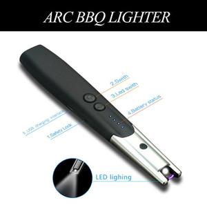 Çakmak Güzel Hediye Uzun Boyun Ateşleme Aracı İçin Mutfak Taşınabilir Elektrikli Ark Windproof Şarj Mum Çakmak Metal Sigara Çakmaklar USB
