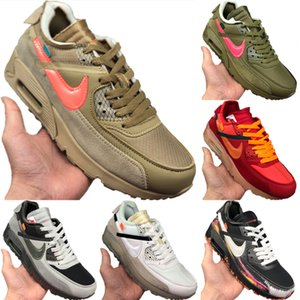 With Box 2020 Zoom90 Leather and Mesh Breathable Running Shoe Originals Zoom90 Buffer Rubber Built-in Zoom Air Cushioning Sports Shoes