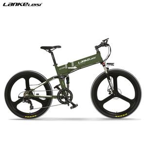 LANKELEISI 26 pollici Full Suspension Folding Mountain E-mountain bike bicicletta elettrica livello di qualità UE