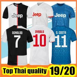 Thaïlande juventus Maillot De Foot 2019 2020 RONALDO DYBALA maillots de football 19 20  hommes champion league Uniforme  juventus DE LIGT Maillot De Foot