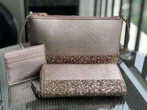 3 шт. комплект бренд дизайнер блеск мини crossbody сумка кошелек лоскутное блестящий кошелек плечо crossbody Сумки женские кошельки