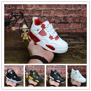 Enfants 4 Race Cactus Jack Pure Chicago jeunes Chaussures De Basketball 4s Enfants Garçon Filles Blanc Alternate 89 Black Sneakers Toddlers Cadeau D'anniversaire
