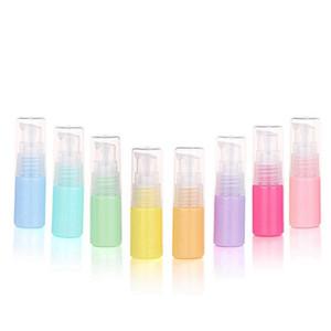 Macaron 10 ml botella de plástico vacía portátil desinfectante de la mano Contenedores Loción botella cosmética viaje de embalaje contenedores de colores HHA1365