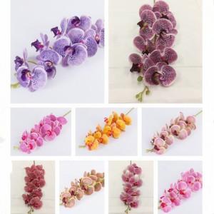 uno artificiales flores de orquídeas Phalaenopsis tacto verdadero orquídeas mariposa de alta calidad de látex se derivan de silicona planta de flores