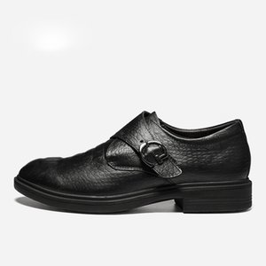 Zapatos de vestir de cuero de grano completo para hombre Moda cómoda Hecrafted 2019 Zapatos de hombre
