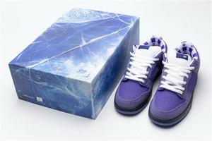 Conceptos más calientes x SB Dunk Low Pro OG púrpura del monopatín de la langosta zapatos de los hombres auténticos zapatillas Rojo Azul Verde Amarillo Con caja especial US5-11