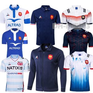 Hot 2019 FR Super Rugby Jerseys com jaqueta 18/19 Franch Shirts Rugby Maillot de Foot Francês BOLN Rugby tamanho da camisa jaquetas S-3XL
