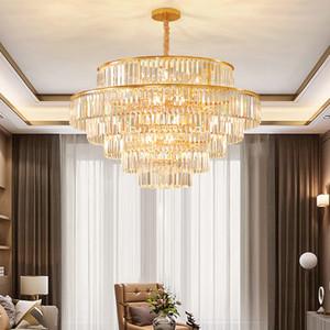 LED Işık Modern Kristal Avizeler Amerikan K9 Kristal Avize Işıklar Armatür Otel Yemek Odası Yatak Salon Ev İç Aydınlatma
