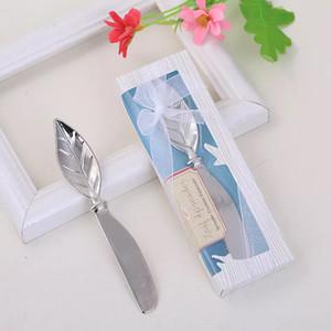 Foglia forma torta polliere crema crema coltelli in lega strumenti pratici strumenti delicati scatola imballaggio stile europeo creativo matrimonio piccolo regalo gratuito DHL