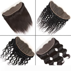 Brazilian Virgin Hair 13x4 Lace Frontal Closure From Ear to Ear Peruvian Straight Body Water Deep Kinky Curly Silk Top Lace Frontal