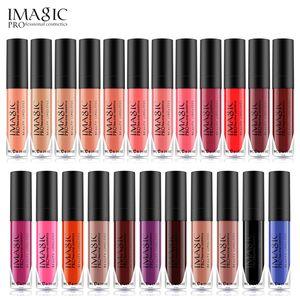IMAGIC Matte Lip Gloss 12Colors Lip Gloss Flüssiger Lippenstift Wasserdicht Langlebig Feuchtigkeitsspendendes Lipgloss MakeupCosmetics lip