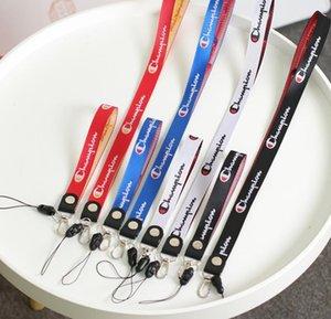 Sales Champion Sports caliente del teléfono móvil cordón ID tarjeta de cuello llaveros correas de accesorios para teléfono celular cuerda de seguridad Keys Llavero titular correa para el cuello