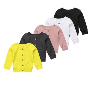 Toddler Kids Baby Girl Clothes Sweatshirt Solid Long Sleeve Kintted Top Infant Outfits Sets Tracksuit 0-24M