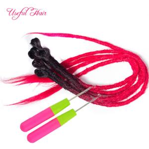 dreads soeur Locks Afro Crochet Tresses extensions cheveux Ombre douce Dreadlocks 18inch cheveux synthétiques pour les femmes Locs Crochet cheveux