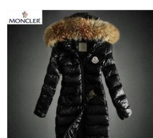 Women's down jacket hot Two-tone long coat With Hooded Women Winter Coat Thick Down Cotton Pockets Jacket Womens Outwear Size S-XXX
