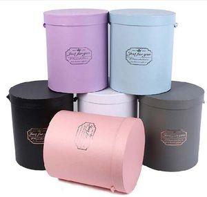 цветы упаковка партии сувениров круглых картонных коробок свадебных горячее надувательство подарки Wrap шесть цвета выбрать 3PCS / комплект