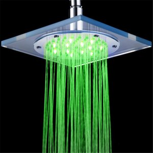 Hydraulic LED Shower head 3 color changing colorful bathroom shower head