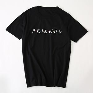 2019 été nouveaux arrivés hommes femmes nouvelles haute qualité amis couleur flash impression tendance de la mode à manches courtes T shirts t-shirts